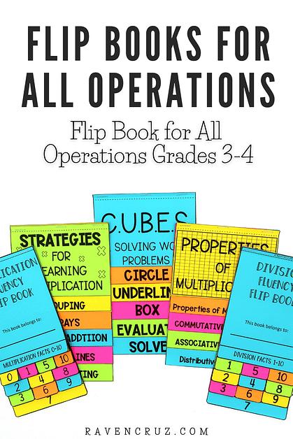 3rd-grade math flip books