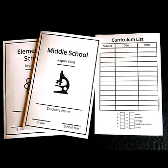 elementary, middle school, and high school report cards