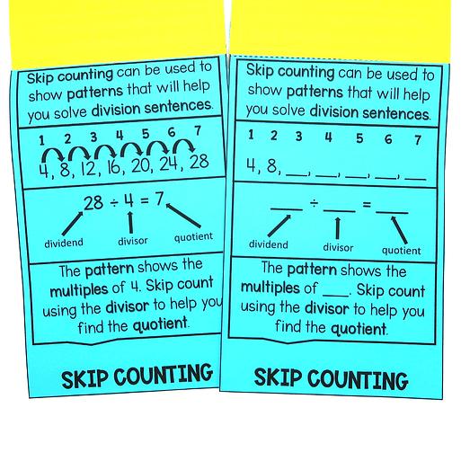 skip counting division strategies