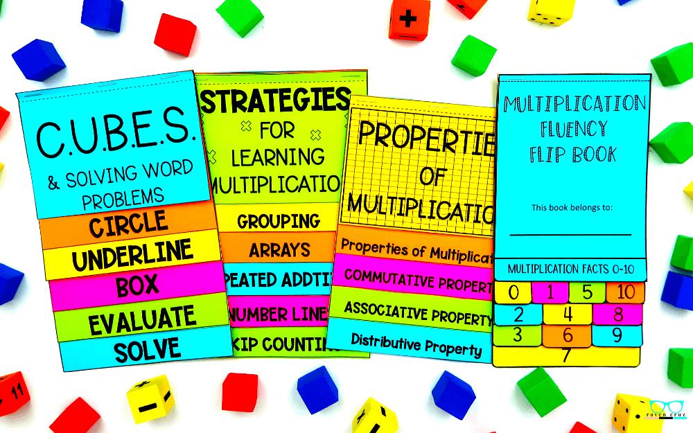 Math flip book bundle for 3rd-grade.